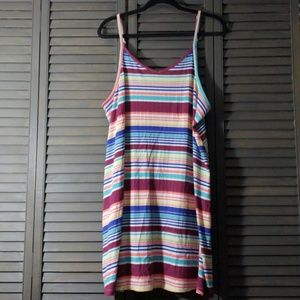 Cute Striped Ribbed Dress